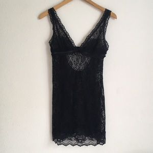 Victoria Secret  very sexy black lace nighty, M